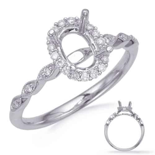 S. Kashi White Gold Halo Engagement Ring (EN8233-7X5MWG)