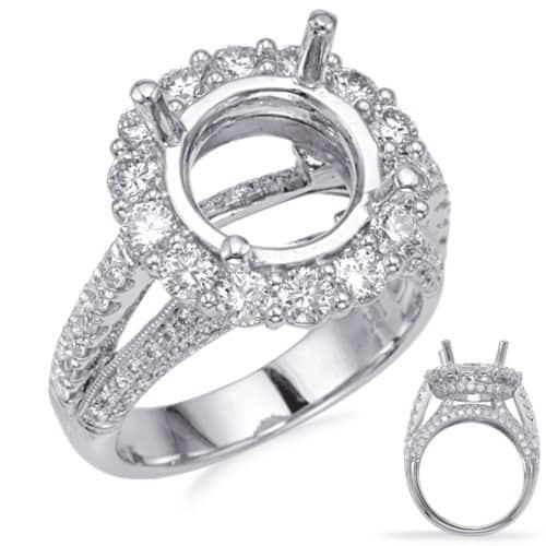 S. Kashi White Gold Halo Engagement Ring (EN8238-3WG)