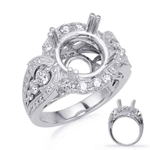 S. Kashi White Gold Halo Engagement Ring (EN8242-3WG)