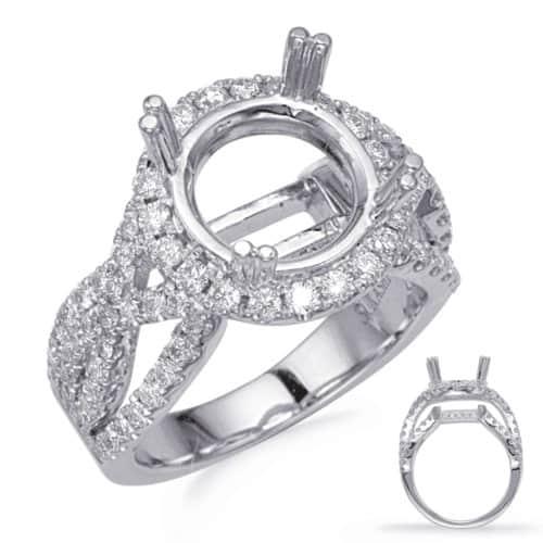 S. Kashi White Gold Halo Engagement Ring (EN8243-3WG)