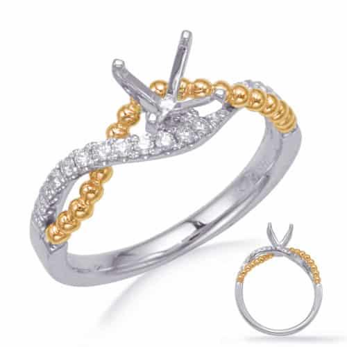 S. Kashi Yellow & White Gold Engagement Ring (EN8246-1YW)