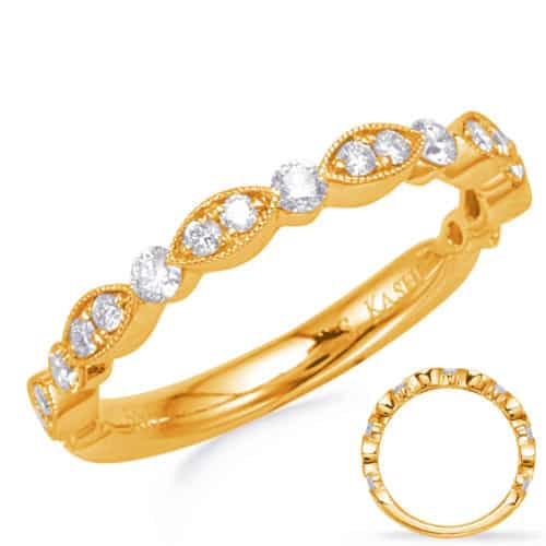 S. Kashi Yellow Wedding Band (EN8253-BYG)