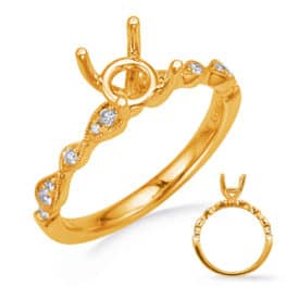 S. Kashi Yellow Gold  Diamond Engagement Ring (EN8254-1YG)
