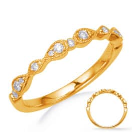 S. Kashi Yellow Gold Matching Band (EN8254-BYG)