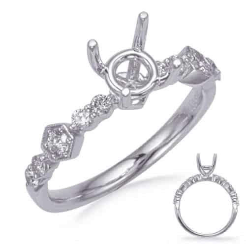 S. Kashi White Gold Diamond Engagement Ring (EN8257-1WG)
