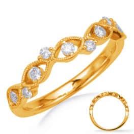 S. Kashi Yellow Gold Matching Band (EN8258-BYG)