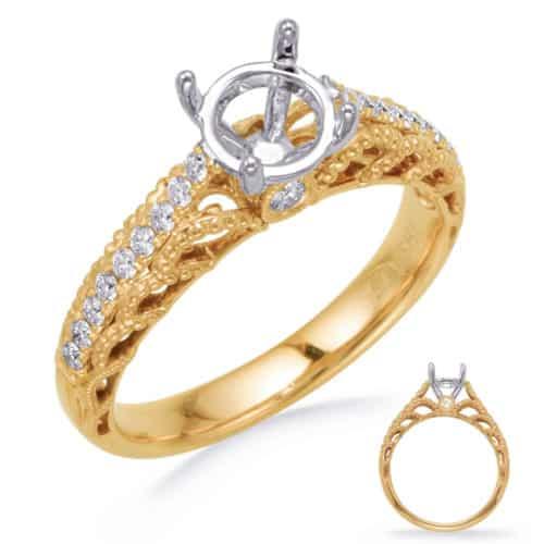 S. Kashi Yellow Gold Engagement Ring (EN8262-1YG)
