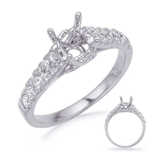 S. Kashi White Gold Engagement Ring (EN8263-75WG)