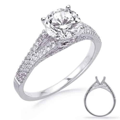 S. Kashi White Gold Engagement Ring (EN8264-1WG)