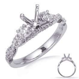 S. Kashi White Gold Engagement Ring (EN8265-1WG)