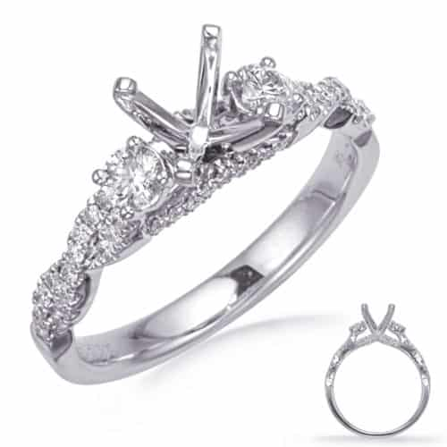 S. Kashi White Gold Engagement Ring (EN8265-1WG)
