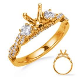 S. Kashi Yellow Gold Engagement Ring (EN8265-1YG)