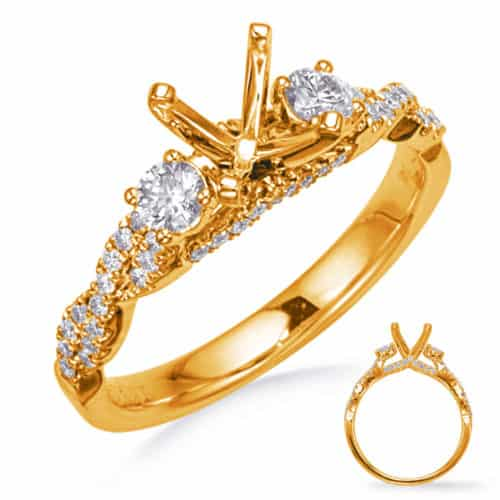 S. Kashi Yellow Gold Engagement Ring (EN8265-1YG)