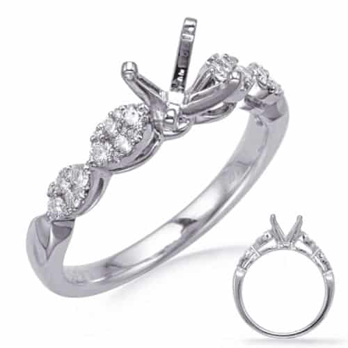 S. Kashi White Gold Engagement Ring (EN8266-1WG)