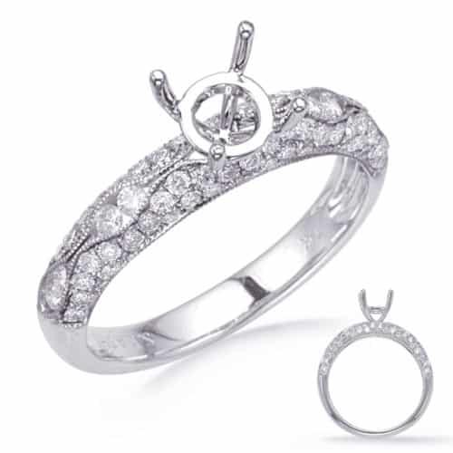S. Kashi White Gold Engagement Ring (EN8267-75WG)