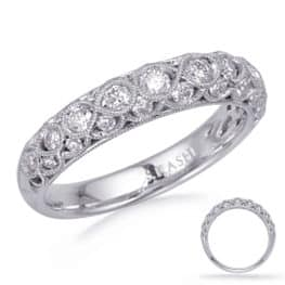 S. Kashi White Gold Matching Band (EN8268-BWG)