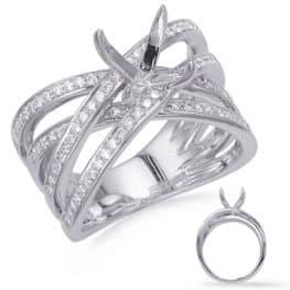 S. Kashi White Gold Diamond  Engagement  Ring (EN8270-15WG)