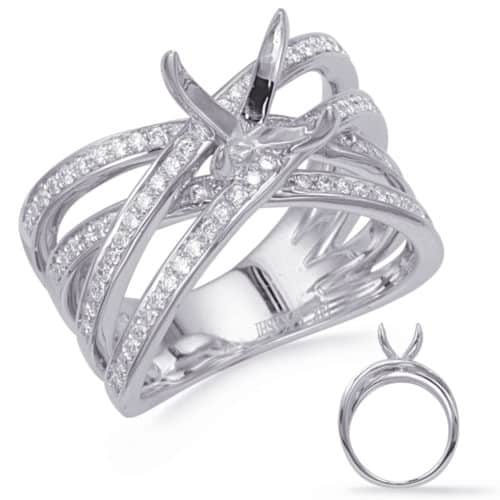 S. Kashi White Gold Diamond  Engagement  Ring (EN8270-15WG)