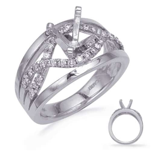 S. Kashi White Gold Diamond Engagement Ring (EN8272WG)