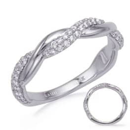 S. Kashi White Gold Diamond Wedding Band (EN8275-BWG)