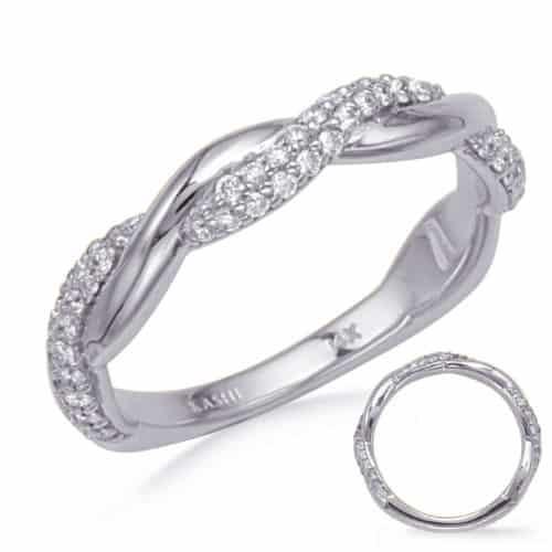S. Kashi White Gold Diamond Wedding Band (EN8275-BWG)