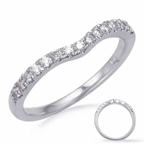 S. Kashi White Gold Diamond Wedding Band (EN8277-BWG)