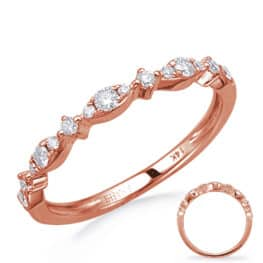 S. Kashi Rose Gold Diamond Wedding Band (EN8280-BRG)
