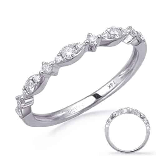 S. Kashi White Gold Diamond Wedding Band (EN8280-BWG)