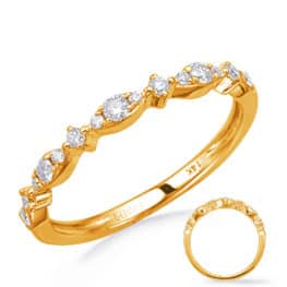 S. Kashi Yellow Gold Diamond Wedding Band (EN8280-BYG)