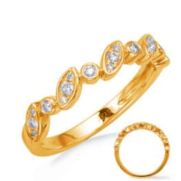 S. Kashi Yellow Gold Diamond Wedding Band (EN8281-BYG)