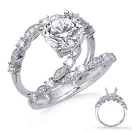 S. Kashi White Gold Engagement Ring (EN8284-15WG)