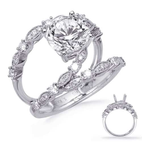 S. Kashi White Gold Engagement Ring (EN8284-1WG)