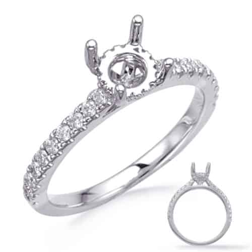S. Kashi White Gold Engagement Ring (EN8285-1WG)