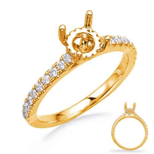 S. Kashi Yellow Gold Engagement Ring (EN8285-75YG)