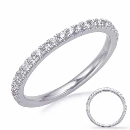 S. Kashi White Gold Wedding Band (EN8285-B50WG)