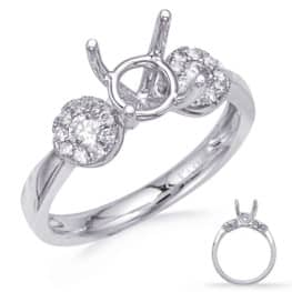 S. Kashi White Gold Engagement Ring (EN8286-1WG)