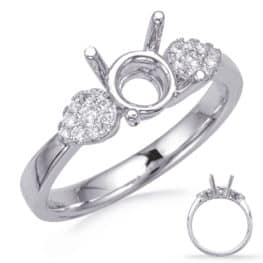 S. Kashi White Gold Engagement Ring (EN8287-15WG)