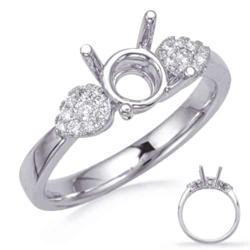 S. Kashi White Gold Engagement Ring (EN8287-15WG)