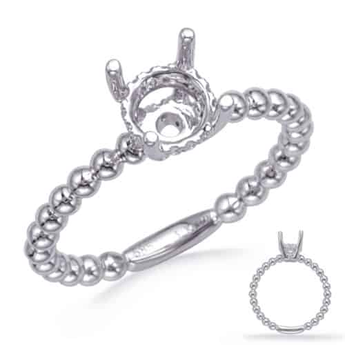 S. Kashi White Gold Engagement Ring (EN8288-75WG)