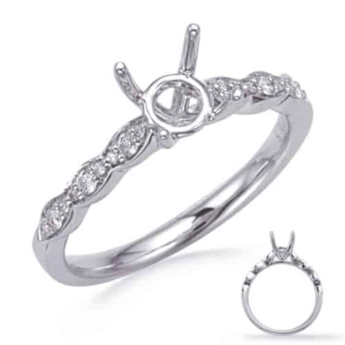 S. Kashi White Gold Engagement Ring (EN8291-75WG)