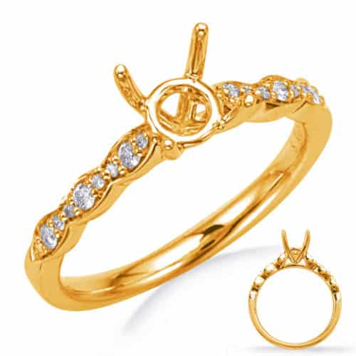 S. Kashi Yellow Gold Engagement Ring (EN8291-75YG)