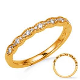 S. Kashi Yellow Gold Wedding Band (EN8291-B10YG)