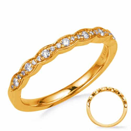 S. Kashi Yellow Gold Wedding Band (EN8291-B10YG)