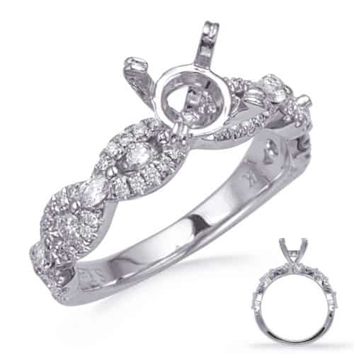 S. Kashi White Gold Diamond Engagement Ring (EN8295-1WG)