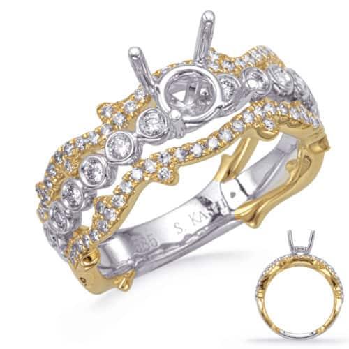 S. Kashi Yellow & White Gold Engagement Ring (EN8301-1YW)