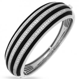Belle etoile Intermezzo Black Bangle