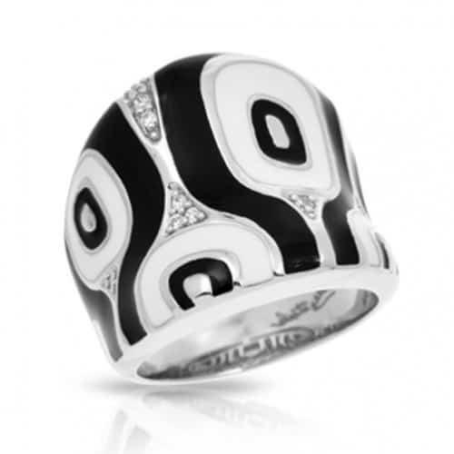 Belle Etoile Moda Black & White Ring