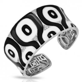 Belle etoile Moda Black & White Bangle