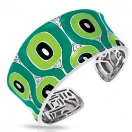 Belle etoile Moda Green Bangle