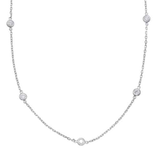 S. Kashi White Gold Diamond By The Yard Necklace (N1077-2.0MWG)